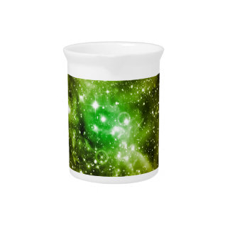 Green Outer Space Beverage Pitcher