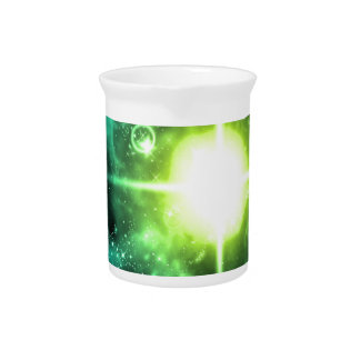 Green Outer Space Drink Pitcher