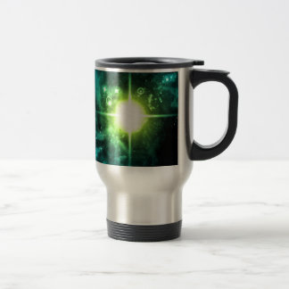 Green Outer Space Travel Mug
