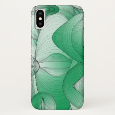 Green Oval Art Deco iPhone XS Case