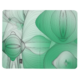 Green Oval Art Deco Journal