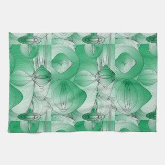 Green Oval Art Deco Towel