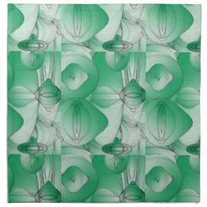 Green Oval Art Deco Napkin