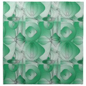 Green Oval Art Deco Napkin