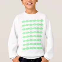Green Oval Patterns Sweatshirt
