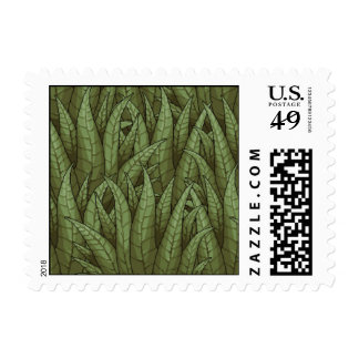 Green Overlapping Plant Leaves Pixel Stamp