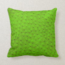 Green Oversized Ostrich Leather Grain Pillow