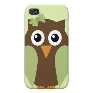 Green Owl & a Bow iPhone4 Case iPhone 4/4S Covers