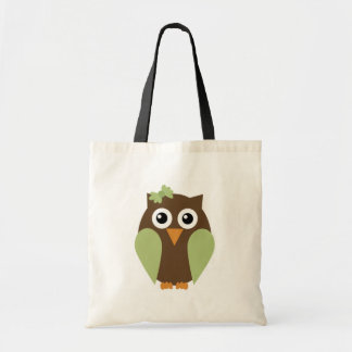 Green Owl & A Bow Tote