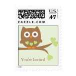 Green Owl Baby Shower Postage