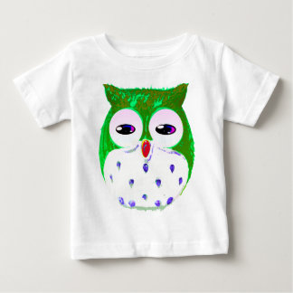 Green Owl Baby T-Shirt