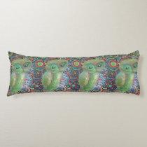 green owl body pillow