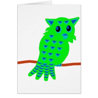 Green Owl Card