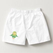 Green owl cartoon boxers