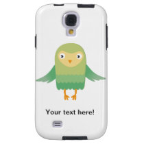 Green owl cartoon galaxy s4 case