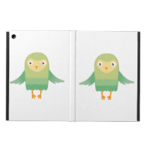 Green owl cartoon iPad air case