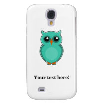 Green owl cartoon samsung galaxy s4 cover