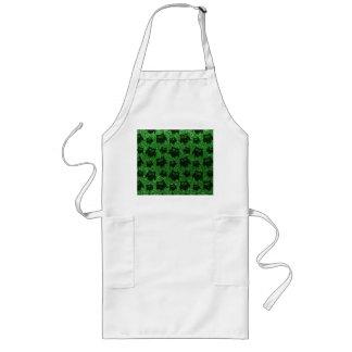 Green owl glitter pattern apron