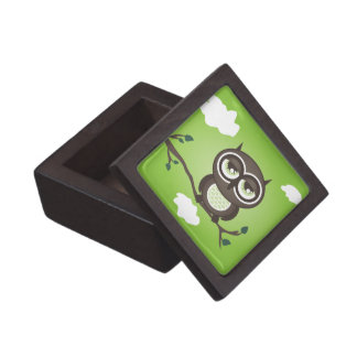 Green Owl Jewelry or Gift Box Premium Jewelry Boxes