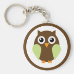 Green Owl Key Chain