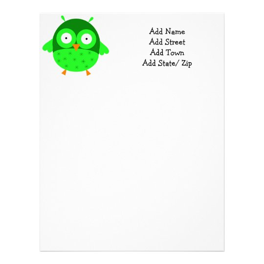 Green Owl Letterhead