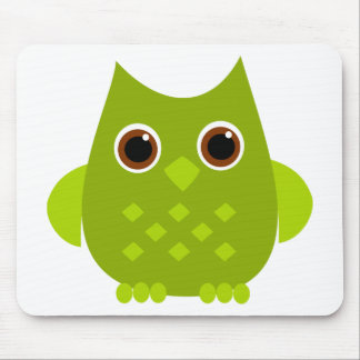 Green Owl Mouse Pad