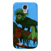 Green Owl of Paradise Galaxy S4 Case