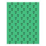 Green owl pattern custom letterhead