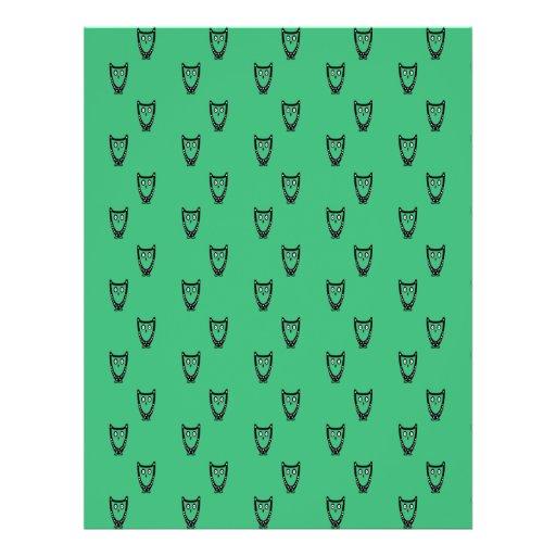 Green owl pattern flyers