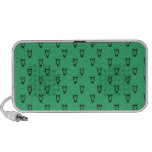 Green owl pattern mp3 speakers