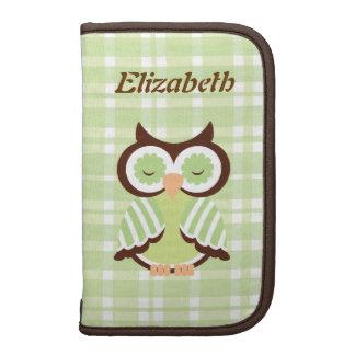 Green Owl Personalized Folio Folio Planner