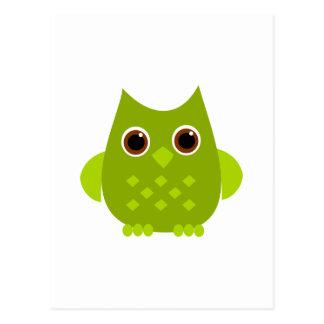 Green Owl Postcards