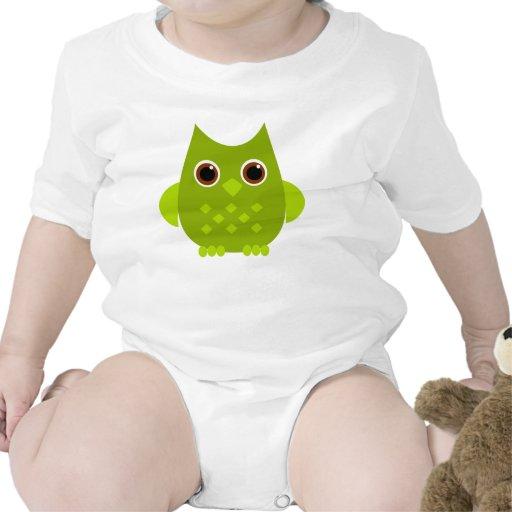Green Owl Romper