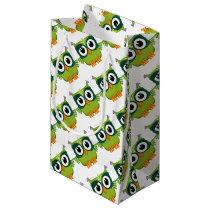 green owl small gift bag
