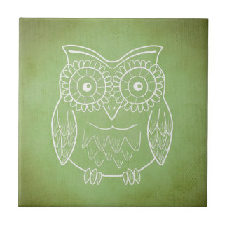 Green Owl Tile