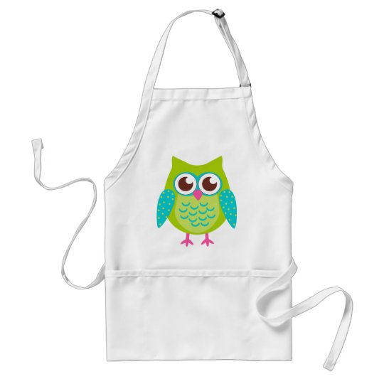 Green Owls Gift Adult Apron