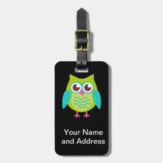 Green Owls Gift Bag Tag