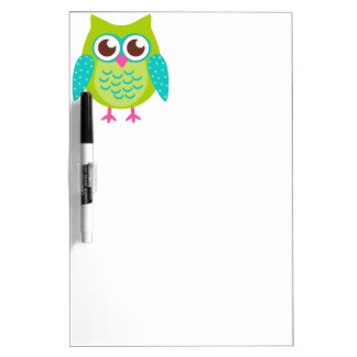 Green Owls Gift Dry-Erase Whiteboards