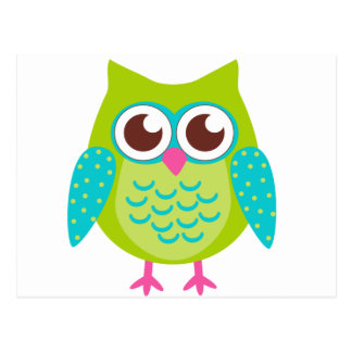 Green Owls Gift Post Card