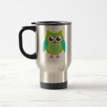 Green Owls Gift Travel Mug