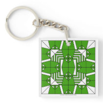 Green Owls Key Chain
