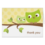 Green Owls Note Card Card