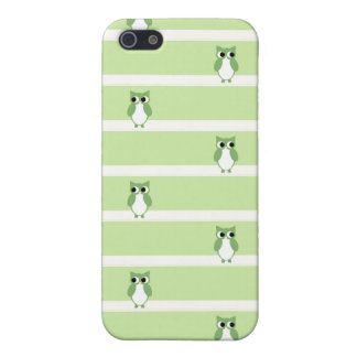Green Owly Pern Case For iPhone SE/5/5s