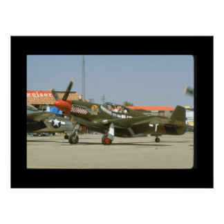 Green P51 Mustang, Left Side_WWII Planes Poster