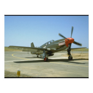 Green P51 Mustang Taxiing_WWII Planes Poster