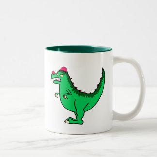Green Pachycephalosaurus Two-Tone Coffee Mug
