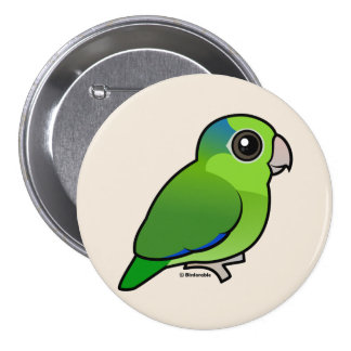 Green Pacific Parrotlet Pinback Buttons