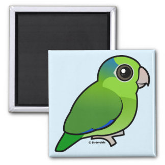 Green Pacific Parrotlet Fridge Magnets