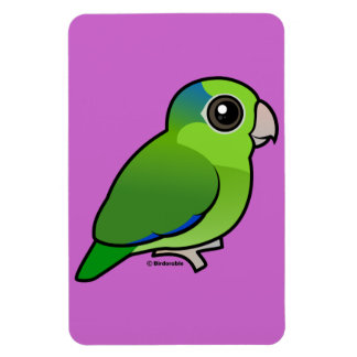 Green Pacific Parrotlet Rectangular Magnet