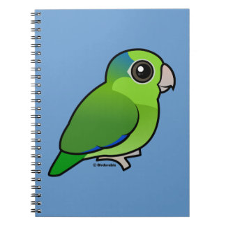 Green Pacific Parrotlet Spiral Notebook